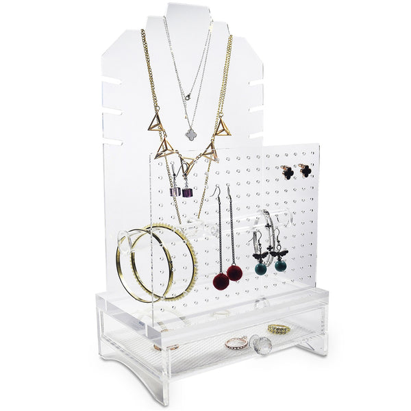 Ikee Design®Acrylic Jewelry Storage Organizer Necklace Stand Earring Bracelet Holder