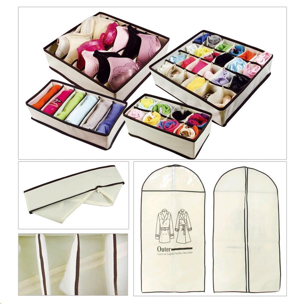 Ikee Design® Drawer Dividers Closet Organizers Set