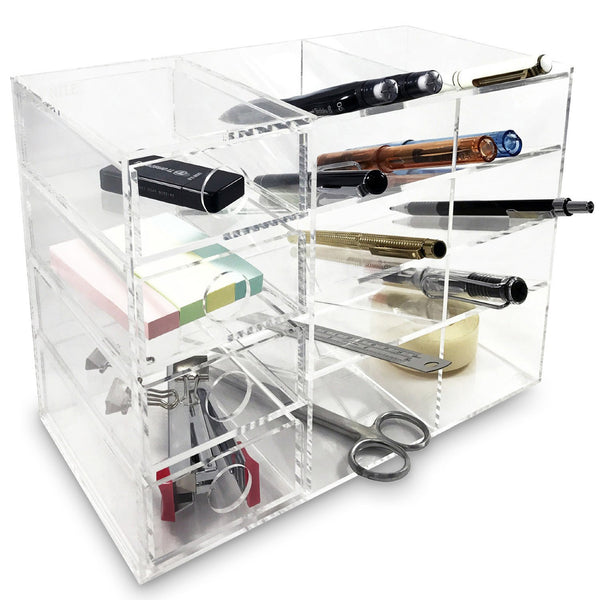 Ikee Design®Acrylic 4-Shelf Office Supply Desk Organizer. Made in Taiwan | Ikee Design