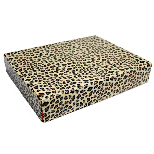 "Ikee Design®  Leopard Pattern Eyewear Tray For 8 Large Sunglasses. 12 3/4"" X 9 3/4"" X 2 1/4""H"