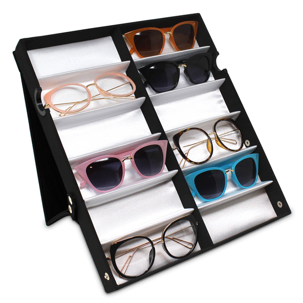 "Ikee Design®  Eyewear Storage And Display Case, 13""W x 14 1/2""D x 1 1/2""H: 6"" x 2"" x 1 1/4"" D"
