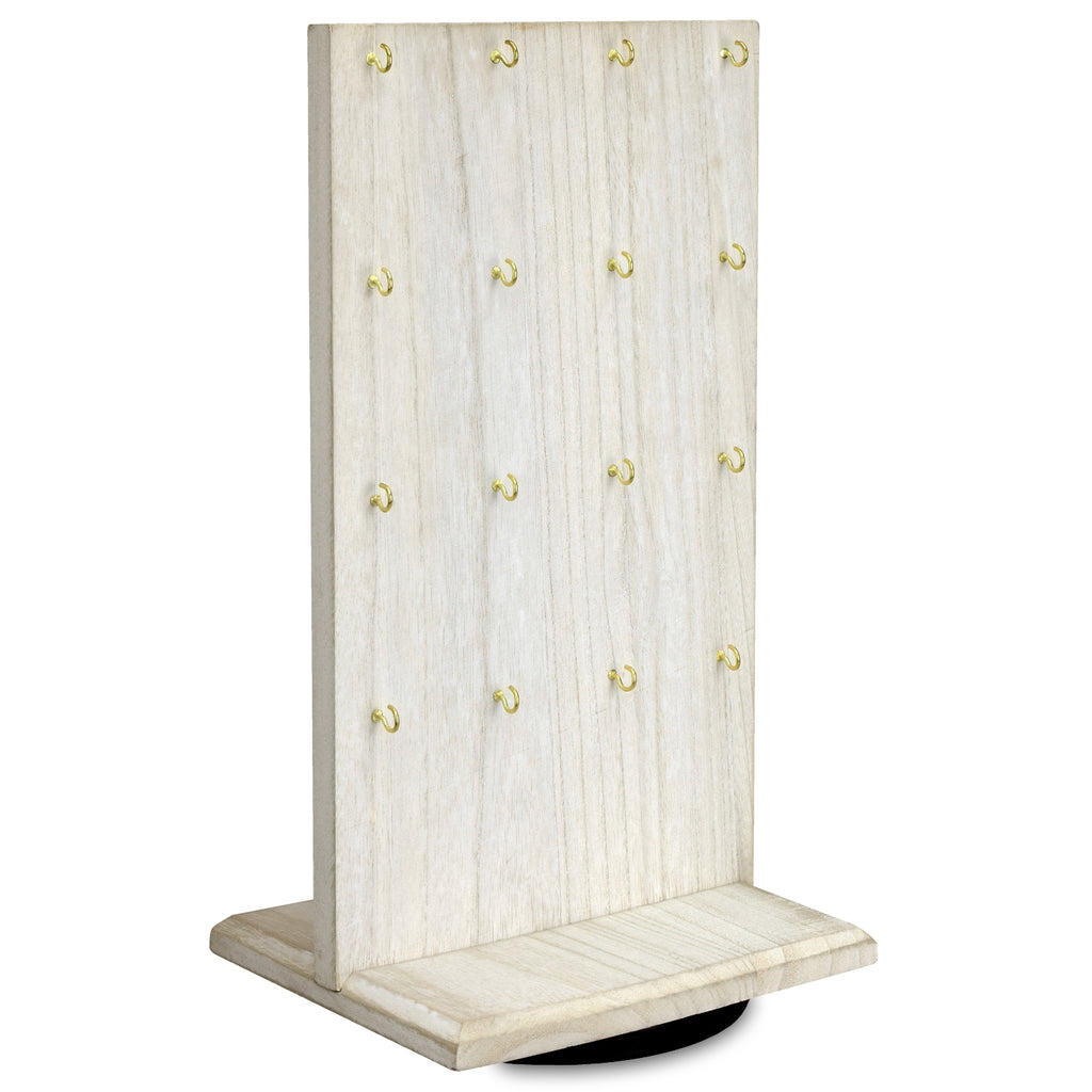 Ikee Design® Wooden Two-Sided Jewelry Display Stand with 32 Hooks
