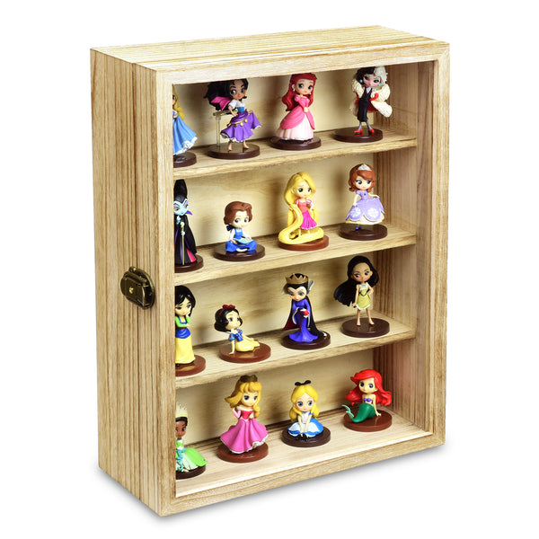 Ikee Design® Wall Mounted Collectible Display Case Shadow Box with a Lock and Key
