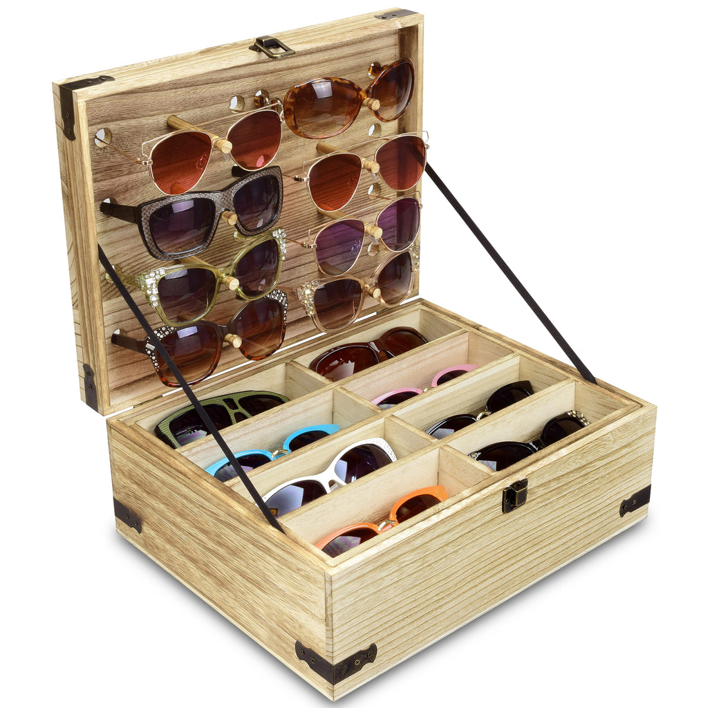 Ikee Design® Wooden Eyeglasses Sunglasses & Eyewear Display Storage Case