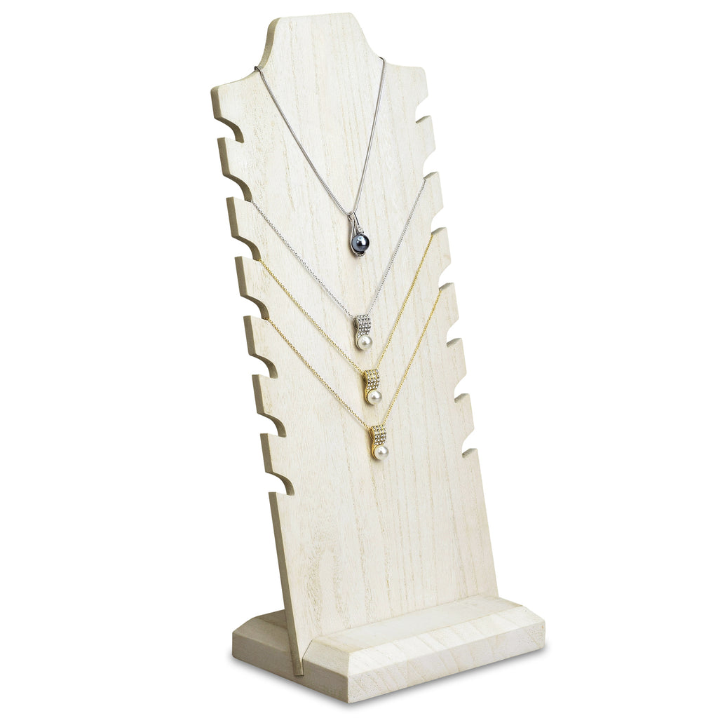 Ikee Design® Wooden Freestanding Necklace Easel Display Stand Holder Multiple Necklace Bust