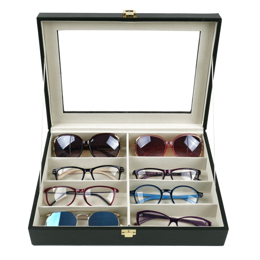 Ikee Design® Leatherette Eyewear Case For 8 Frames
