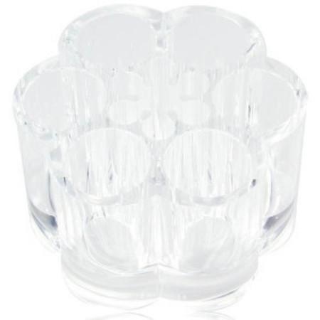 Ikee Design®  Clear Acrylic Lipstick and Brush Stand. 3 1/2''W x 2 1/4''H | Ikee Design