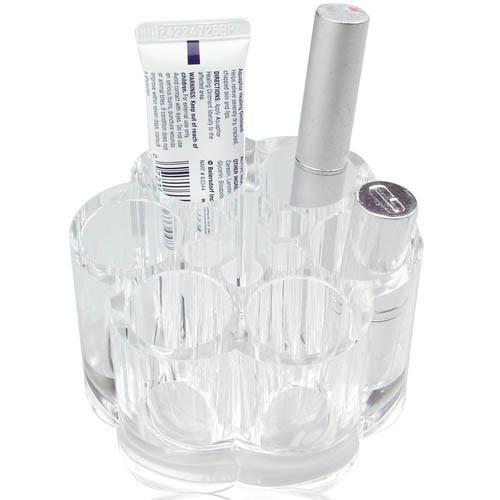 Ikee Design®  Clear Acrylic Lipstick and Brush Stand. 3 1/2''W x 2 1/4''H