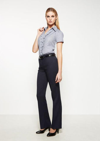 biz corporates ladies relaxed fit pant - straight leg (10111)