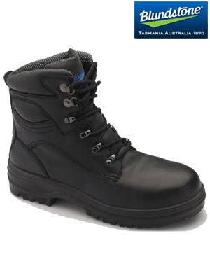 blundstone black water resistant lace up boot