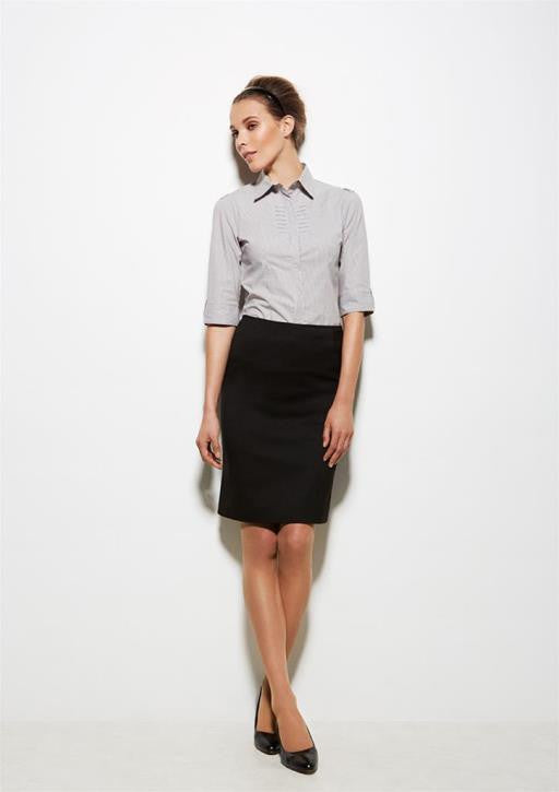 ladies bandless straight skirt