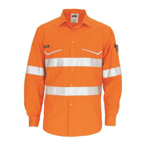 dnc-3590 ripstop cotton cool shirt with csr reflective tape, l/s