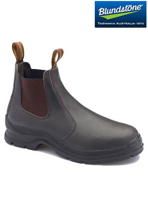 blundstone brown leather elastic side boot