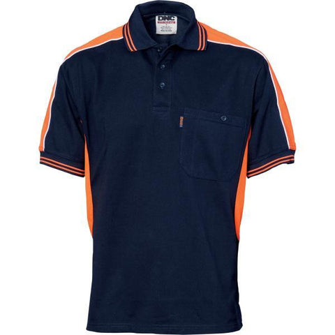dnc-5214 polyester cotton panel polo shirt, short sleeve