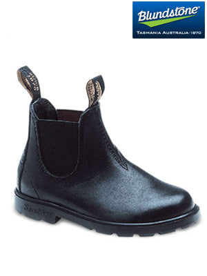 blundstone black elastic side boot - v cut