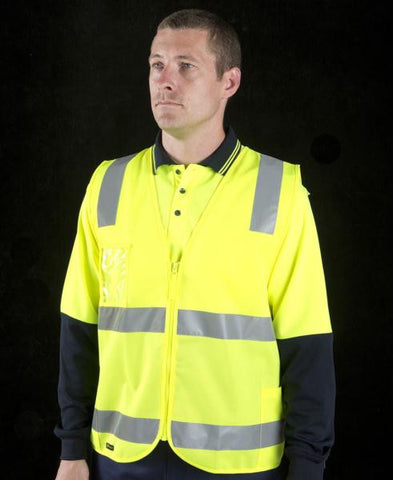 JB's wear hi vis (d+n) zip safety vest