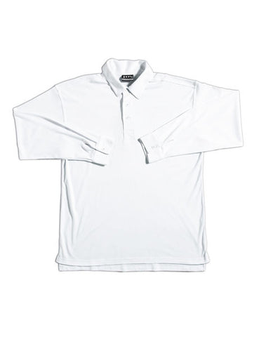 JB's wear podium kids long sleeve cricket polo