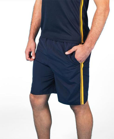JB's wear podium adults dual stripe warm up shorts