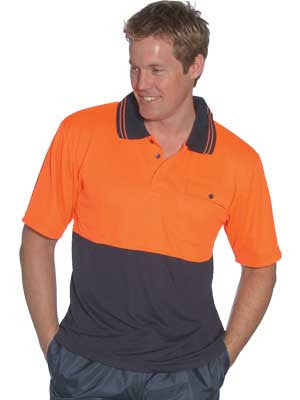truckie 918151 hi vis short sleeve polo shirt