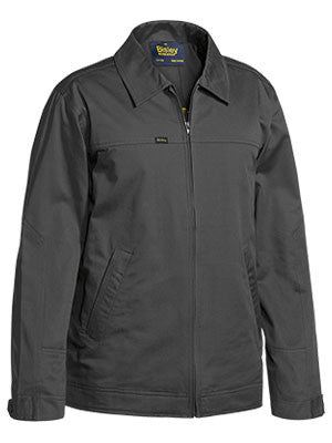 bisley cotton drill jacket with liquid repellent finish - bj6916
