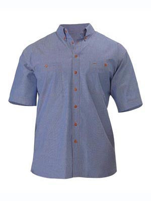 bisley chambray shirt short sleeve - b71407