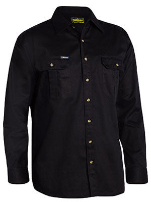 bisley original cotton drill shirt - long sleeve - bs6433