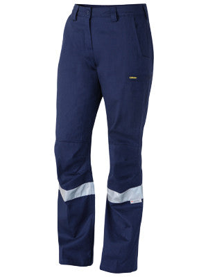 bisley 3m taped industrial engineered ladies drill pant - bpl6021t