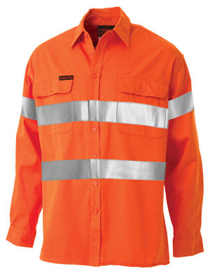 bisley hi vis shirt - indura®  ultra soft®  flame resistant with tape - bs8004