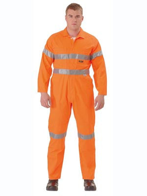 bisley hi vis lightweight coveralls 3m reflective tape - bc6718tw