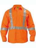 bisley 3m x taped hi vis drill shirt - long sleeve - bs6156t