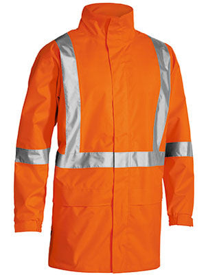 bisley x taped hi vis rain shell jacket - bj6968t