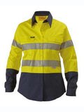 bisley ladies 2 tone hi vis cool lightweight gusset cuff shirt reflective tape - bl6896 - special