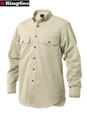 KingGee Men's Cotton Mini-Twill Shirt (Long-Sleeve)-K04350
