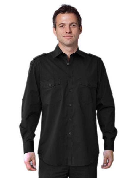 benchmark-m7912 men's long sleeve military shirt