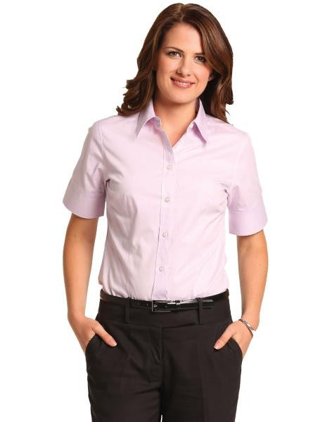 benchmark-m8040s women's cvc oxford short sleeve shirt