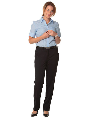 benchmark-m9440 women's poly/viscose stretch flexi waist utility pants