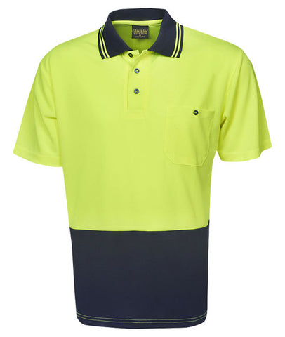 blue whale hi vis light weight cooldry polo short sleeve P62