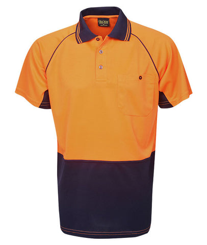 Blue Whale hi vis raglan sleeve cooldry polo short sleeve P64