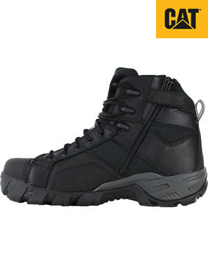 CAT caterpillar argon hi zip steel toe - black (P717395)
