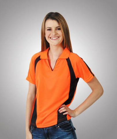 blue whale womens hi vis coolfast mini waffle polo - short sleeve P89