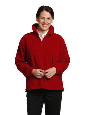 winning spirit-pf01 adults' half zip polar fleece pullover (unisex)