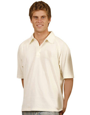 winning spirit-ps29 men's truedry mesh knit short sleeve cricket polo