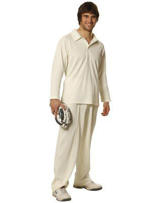 winning spirit-ps29l men's truedry mesh knit long sleeve cricket polo