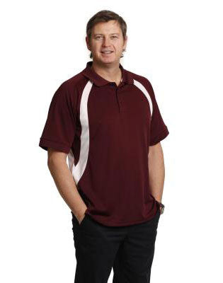 winning spirit-ps51 men's cooldry soft sports mesh contrast short sleeve polo