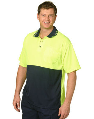winning spirit-sw01cd hi vis cooldry micro-mesh short sleeve safety polo
