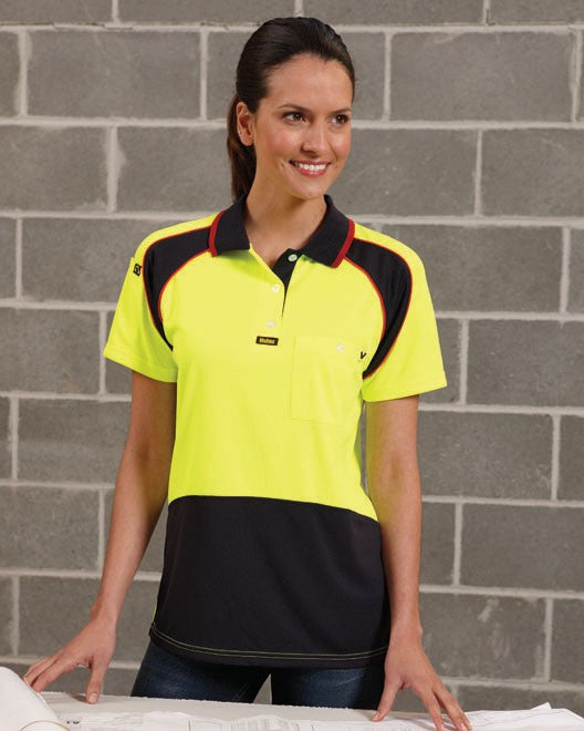 visitec-v1003 ladies energy microfibre polo s/s