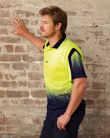 visitec-v1010 matrix polo shirt s/s