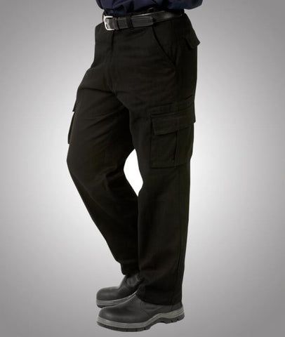 blue whale mens heavy drill cargo trousers - w83