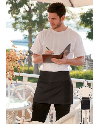 cotton drill quarter apron with pocket