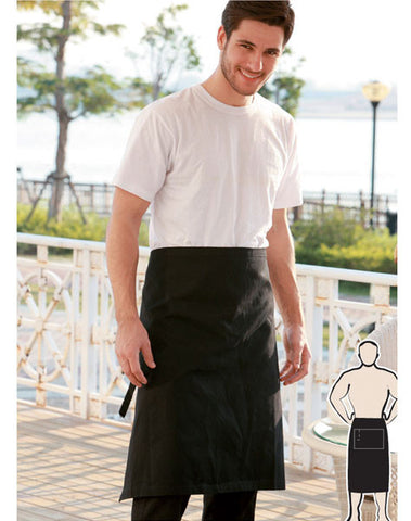 cotton drill three quarter apron without pocket